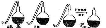 """巴斯德的鹅颈瓶实验 如图是巴斯德著名的""""鹅颈瓶""""实验示意图.A瓶、B瓶内都装有肉汤,甲图表示A瓶煮沸,B瓶不作处理.一段时间后,其中一瓶仍然"""