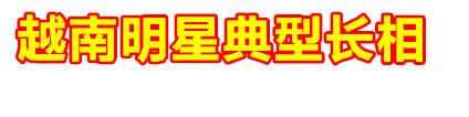 【越南明星】越南明星典型长相